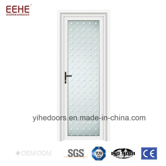 China Aluminum Profile Frosted Glass Interior Bathroom Doors China