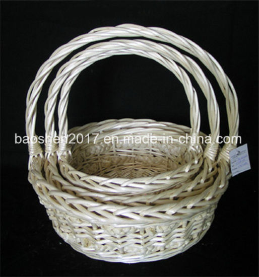 China Wicker Baskets for Christmas Decoration - China Willow Basket ...