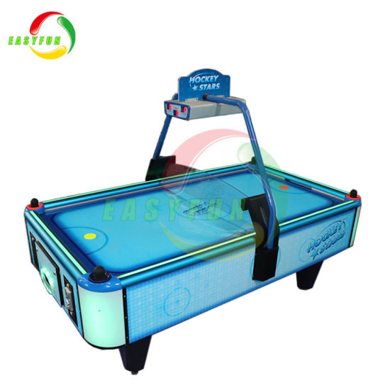 Portable Stars Table Top Arcade Square Coin Operated Air Hockey Table Game  Machine