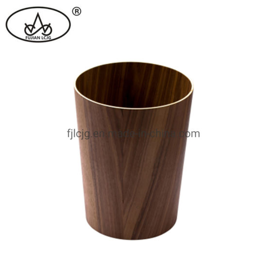 China Walnut Wooden Trash Can Manufacture Kitchen Dustbin Wood Home Indoor Bin China Waste Separation Bin And Opening Top Trash Can Price