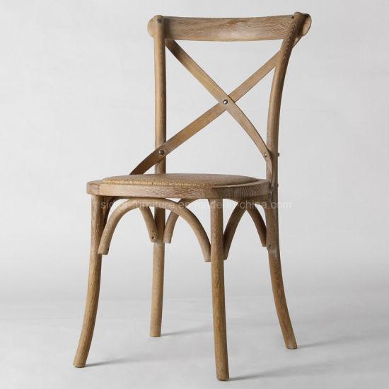 (SL8123) Antique Wooden Wedding Dining Chair for Restaurant Furniture