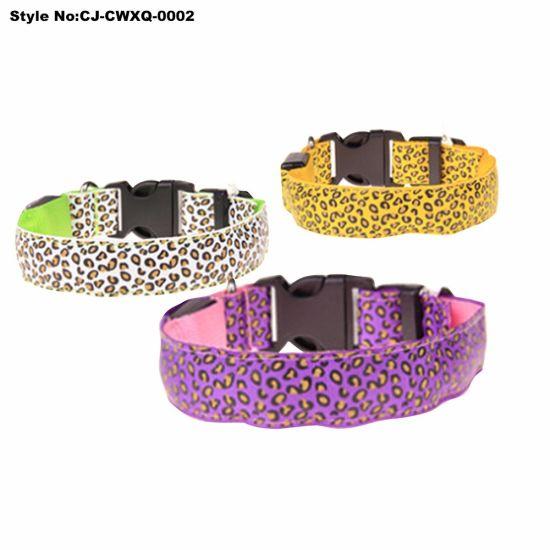 china led flashing dog collar high quality customized pet collar