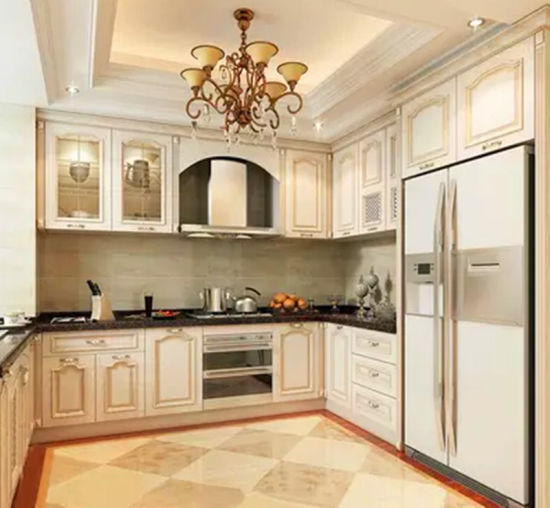 Red Cherry Wood Kitchen Cabinets: China Bck Solid Wood Red Cherry Wood Classical Kitchen