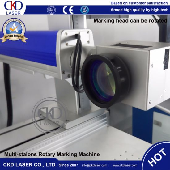 Multi-Station Rotary Marking Fiber Laser Engraving Machine pictures & photos