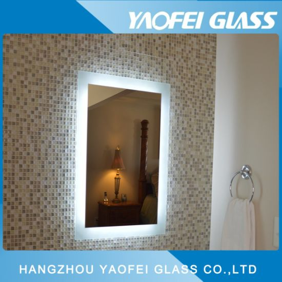 Rectangular Wall Mounted Backlight Bathroom Led Mirror Price