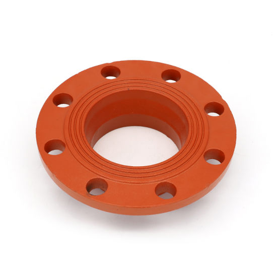 FM/UL Certificated High Quality Ductile Iron Pipe Fittings Grooved Adaptor Flange