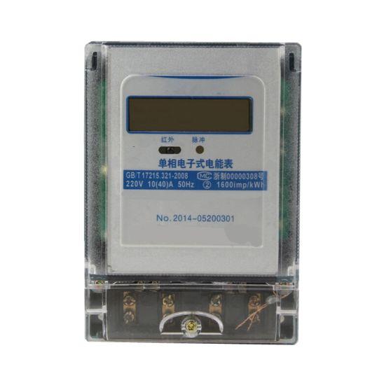 LCD Display Digital Postpaid Household Static Kilowatt Hour Meter