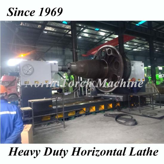 Professional Wind Power Shaft Turning Heavy Duty Horizontal Lathe Cg61200