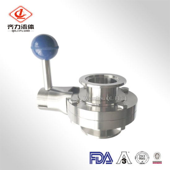 China Sanitary Stainless Steel Tri Clamp Butterfly Valve