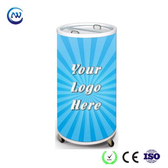 Can Shape Refrigerator Round Beverage Energy Drink Barrel Cooler (SC-75T)