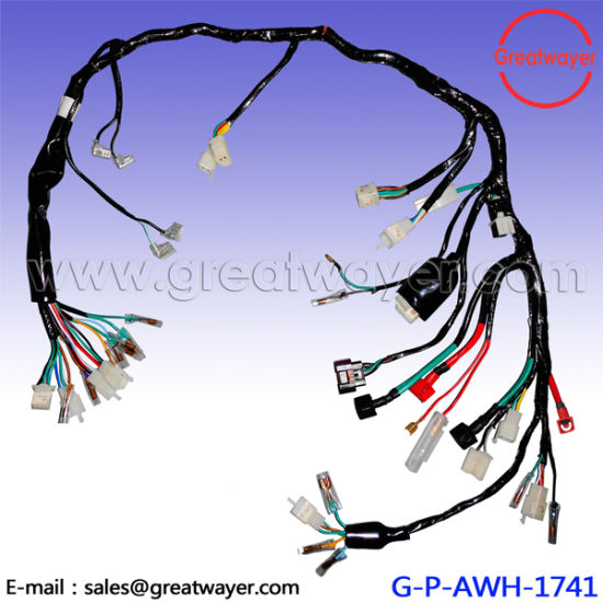 china insulation tape kawasaki motorcycle wiring loom harness rh greatwayer en made in china com motorcycle wiring looms motorcycle wiring loom cable