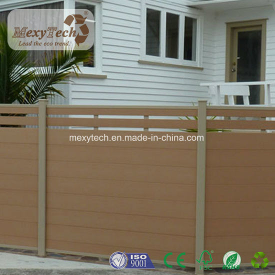 China Fencing Design Wood Plastic Composite WPC Fence for Garden