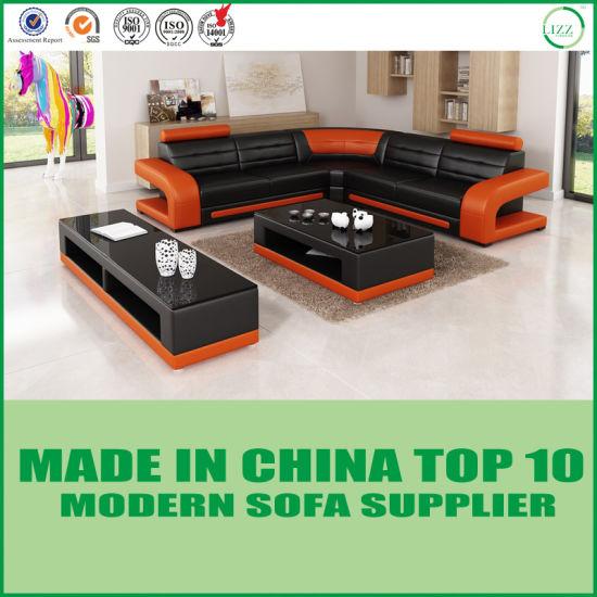 Living Room Furniture Corner Leather Sofa Chair