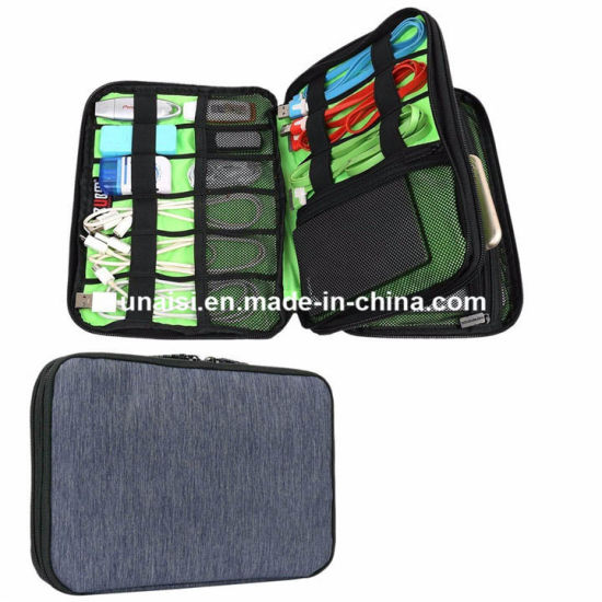 0399d31b5607 China Double Layer Cable Organzier Case Bag Electronics Travel ...