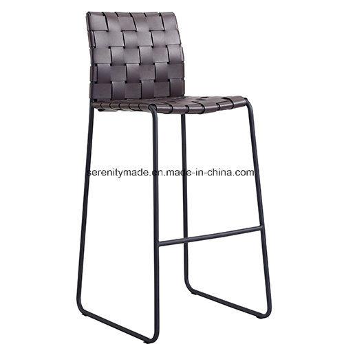 Modern Stackable High Legs Rattan Seat