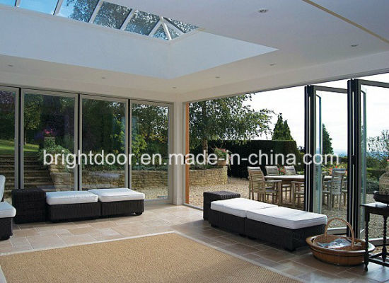Aluminium Tempered Glass Bifold House Door Frame Price pictures & photos