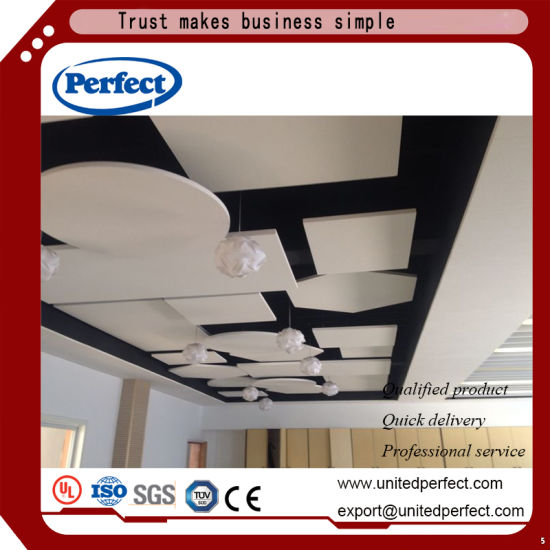 China Fiberglass Suspended Ceiling Panel Acoustic Ceiling