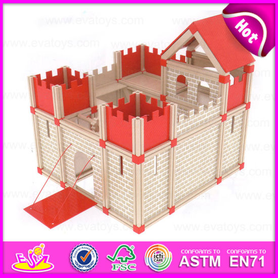 China 2015 Indoor Play Kids Wooden Mini Castle Toy Famous Building