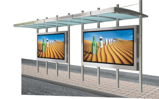 Outdoor Large Size Scroling Bus Shelter Kiosk Lightbox pictures & photos