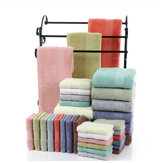 China Hot Sale Cheap Solid Color Promotional Bath Towel Hand Towels