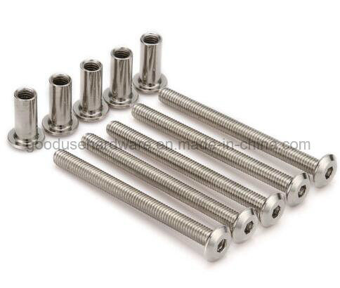 M6 Furniture Joint Connector Bolt &Cap Nut -Hex Socket Screws Head Cot Bed  Bolts