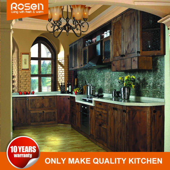 China High End American Standard Rta Solid Wood Kitchen Cabinet