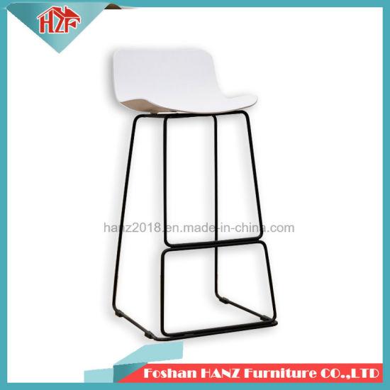 Superb Modern Design Plastic Black High Back Bar Chair Stool With Matel Leg Pp11 11Lb Forskolin Free Trial Chair Design Images Forskolin Free Trialorg