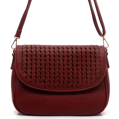 High End New Design Handmade Weaving Ladies PU Leather Handbag pictures & photos