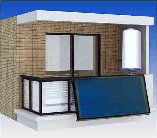 Balcony Split Flat Plate Solar Water Heater