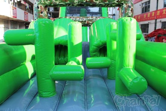Giant Camo Inflatable Obstacle Course Chob465 pictures & photos