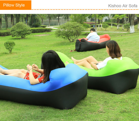 2018 Trend Outdoor Products Fast inflatable Air Sofa Bed Good Quality Sleeping Bag Inflatable Air Bag Lazy Bag Beach Sofa Laybag