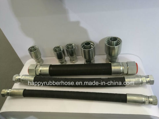 Flexible High Pressure Hydraulic Rubber Oil Hose Assembly pictures & photos