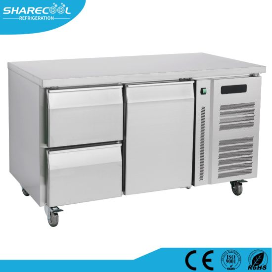 Fan Cooling Stainless Steel Refrigerator Workbench with Drawers pictures & photos