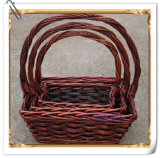 Willow Wicker Flower Storage Fruit Food Gift Basket pictures & photos