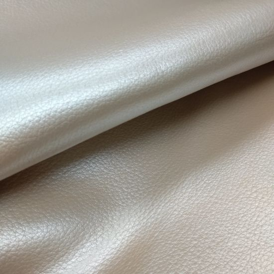 Bling Bling Metalic Artificial Faux Synthetic PU for Sofa /Further -Pearl