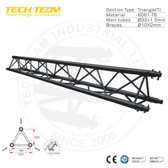 220 Triangle Aluminum Truss, Professional Lighting Stage Truss