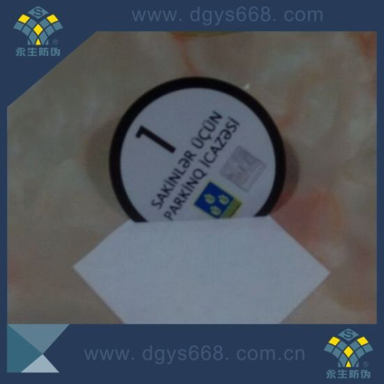 Embossing Hot Stamping Security Sticker for Car Window