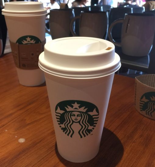 Single Wall Coffee Paper Cup in Single PE Coating with Sleeves