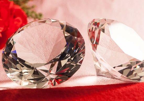 China Wedding Gifts K9 Transparent Crystal Diamond China