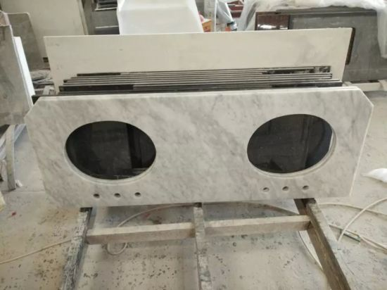 Italy White Marble Carara Marble Kitchen Counter Top