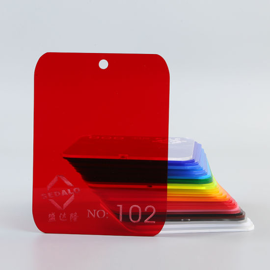 Transparent Red Cast Acrylic Sheet (SDL-102)