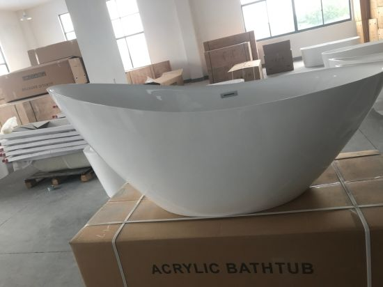 "Big Size 1850mm/72.8"" Cupc Morden Slipper Acrylic Bathtub pictures & photos"