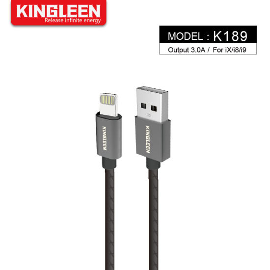 Nylon Braided USB Lightning Fast Charge Cable for Apple iPhone 6 7 8 Plus