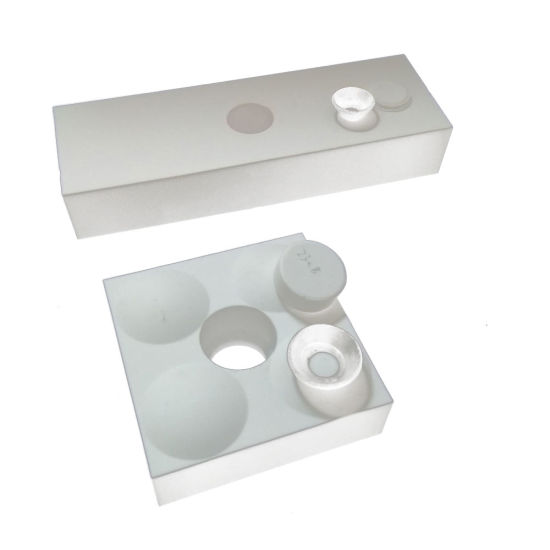 GB Zirconia Weldable Ceramic Liner with Hole 100*100*20mm