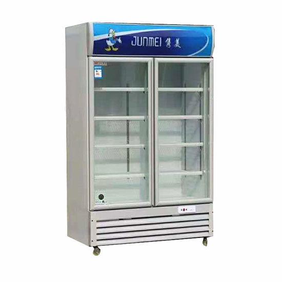 Cold Drink Vertical Display Cooler Glass Door Beverage Storage Refrigerator