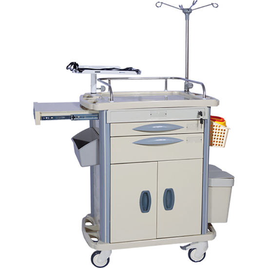 Durable Swivel Medical Clinica Nursing Cart pictures & photos