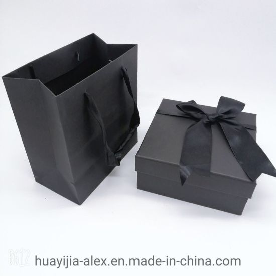 Custom New Hot Hard Paper Luxury Gift Bag and Box Set Through Packing Box for Wholesale