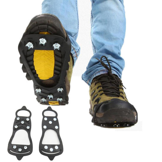 Ice Snow Climbing Walking Boot Shoe Cover Spike Cleats Crampons Gripper New