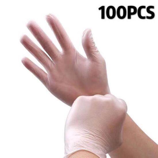 Disposable PVC100 Boxed Cosmetic Transparent Waterproof Gloves pictures & photos
