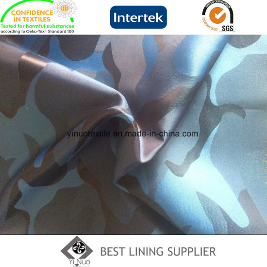 Polyester Camouflage Pattern Jacquard Lining Fabric